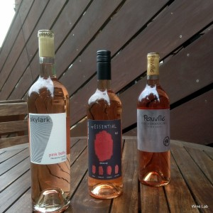 Rose wine flight